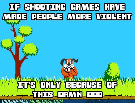violence,gamers,duck hunt,stop laughing