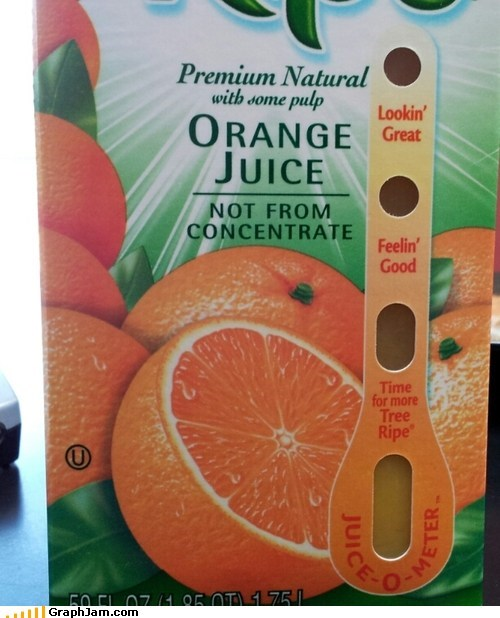 orange juice guessing carton - 6925672448