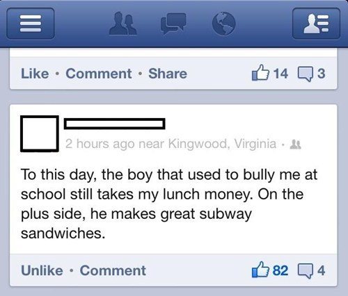 you win,bully,life,Subway