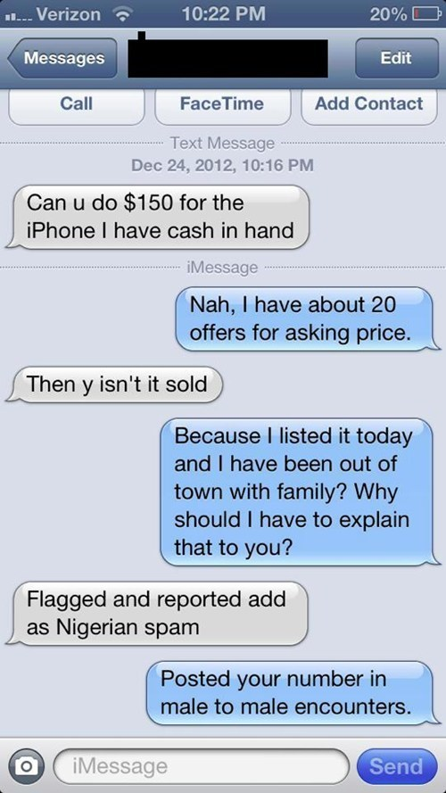 sketchy craigslist Battle iPhones begins - 6925710080
