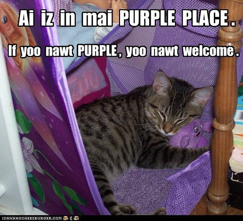 Ai  iz  in  mai  PURPLE  PLACE .