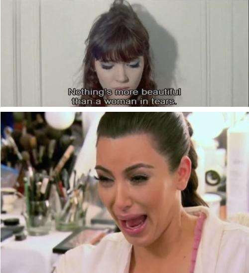 kim kardashian,not that women,woman in tears