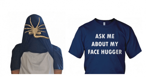 facehugger scary alien shirt