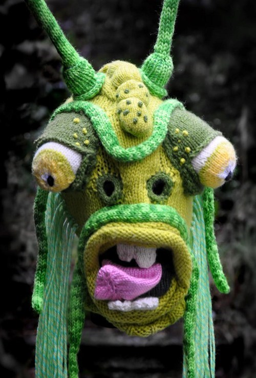 scary monster mask ugly Knitted - 6925932288