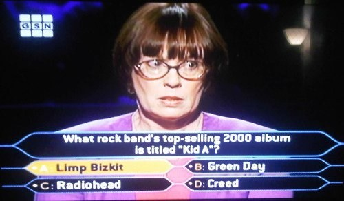 game show,Music,who wants to be a millionaire,radiohead