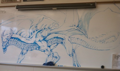 dragon art rawr whiteboard nerdgasm