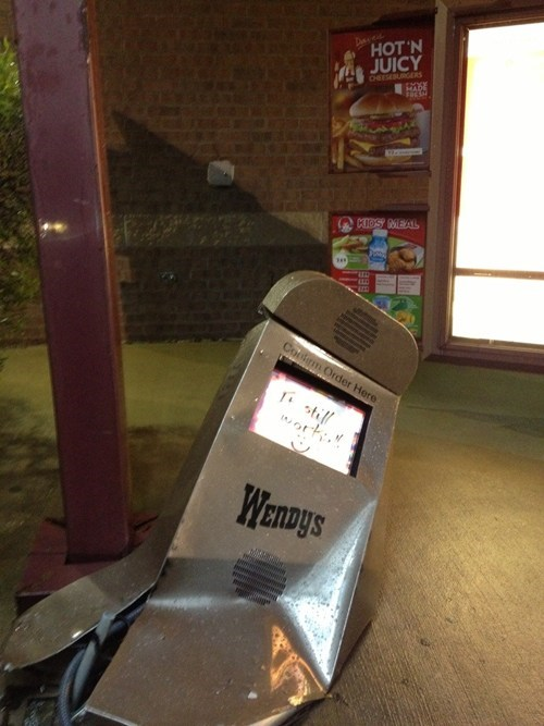 drive thru broken fast food