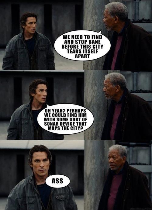 the dark knight rises Movie actor comic christian bale Morgan Freeman funny - 6926169856