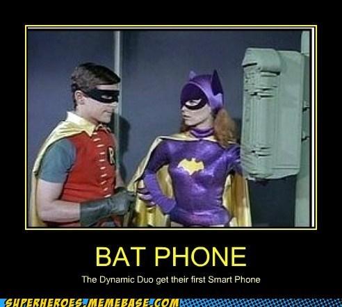 Adam West robin phone batgirl batman - 6926204928