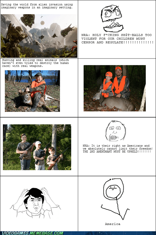 video game violence NRA idiots logic Rage Comics - 6926434304