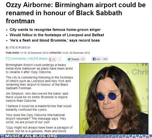 news,airport,Ozzy Osbourne