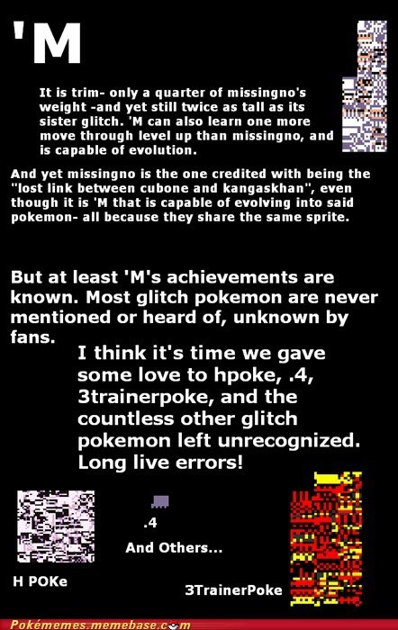 errors,overrated,glitches,missingno.