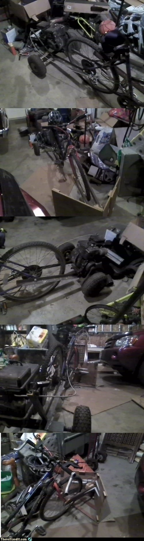 bicycle go kart snowmobile bike snow plow plow g rated there I fixed it