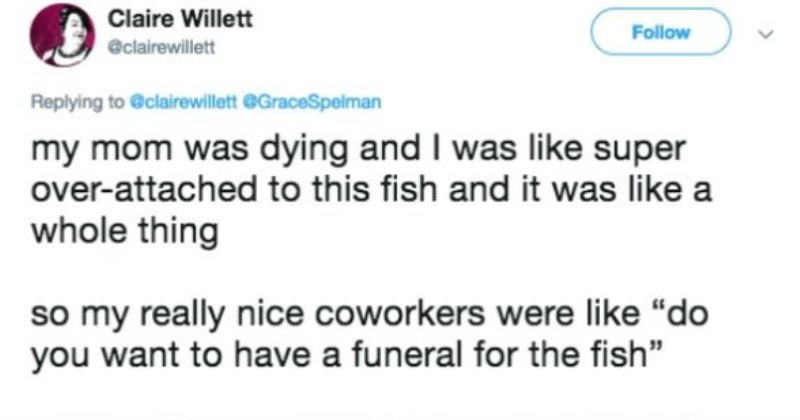 twitter restoring faith in humanity week fish job coworkers - 6927109