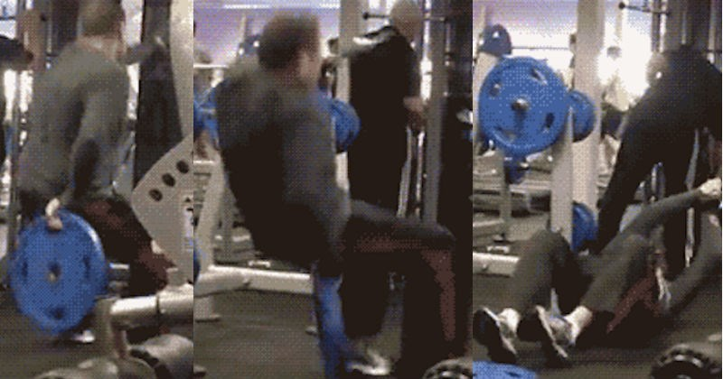 gym FAIL cringe painful ridiculous - 6927621