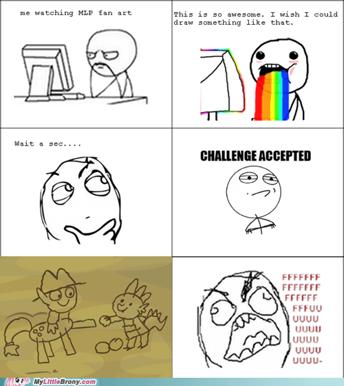art,brohoof,Fan Art,Rage Comics
