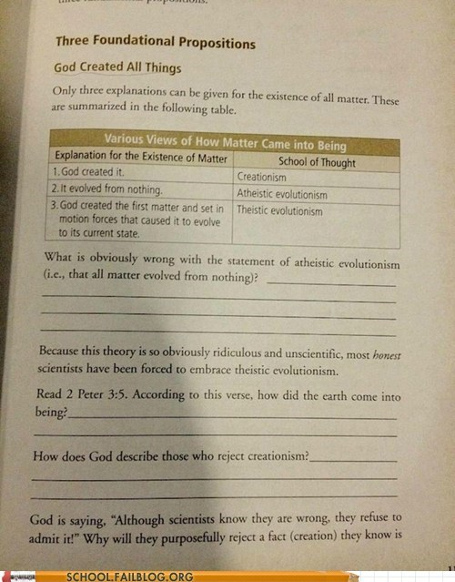 evolution creationism science text book School of FAIL - 6927687424