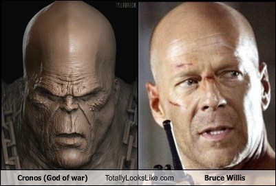 god of war,cronos,bald,bruce willis,TLL