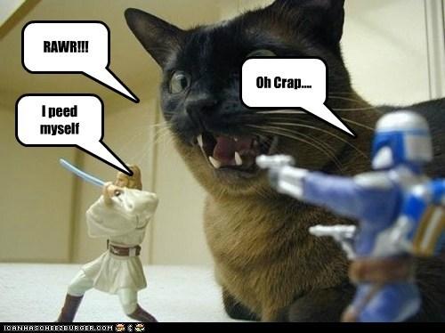 RAWR!!! Oh Crap.... I peed myself