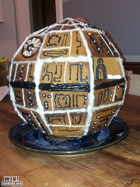 star wars nerdgasm Death Star gingerbread food g rated win - 6928500480