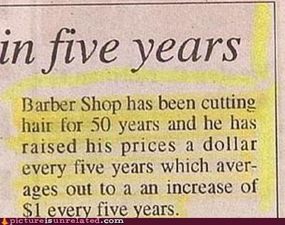 barber,math,newspaper