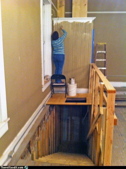 safety first,painting,stairwell