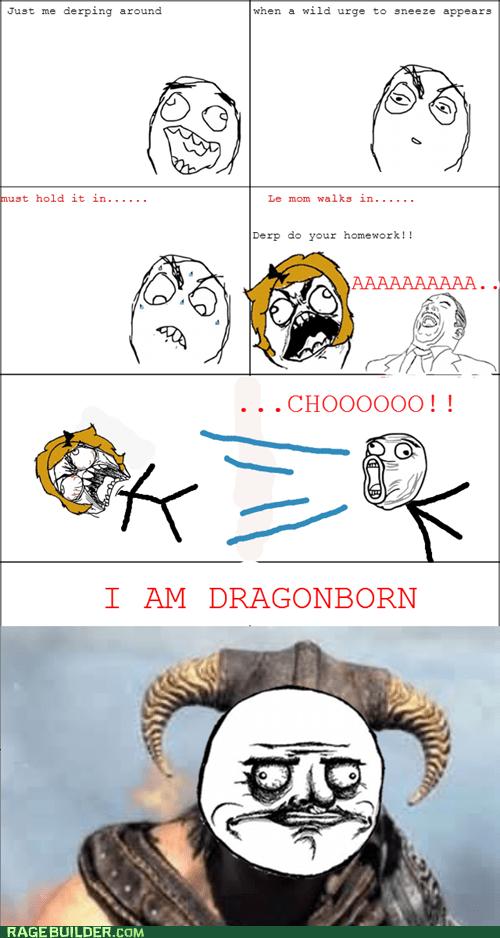 dovahkiin fus ro dah me gusta dragonborn sneeze Skyrim sneezing - 6929900800