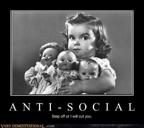 wtf,angry,anti social,little girl