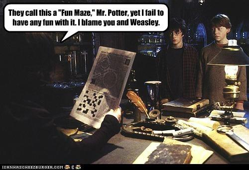 fun Alan Rickman Harry Potter Daniel Radcliffe blame rupert grint maze - 6930415616