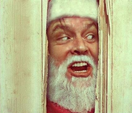 sketchy jack nicholson shoop Movie santa the shining funny holidays - 6930540800