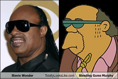 stevie wonder bleeding gums murphy TLL TV the simpsons funny