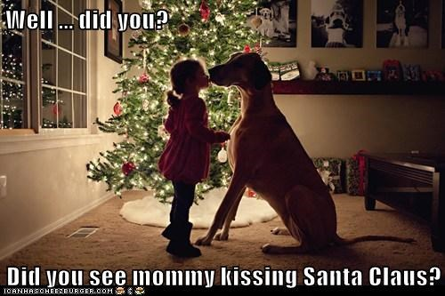 Well ... did you?  Did you see mommy kissing Santa Claus?