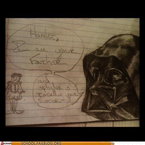 star wars,doodles,hamlet,darth vader