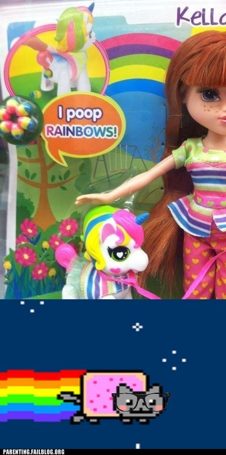 unicorn rainbows poop Nyan Cat - 6932043520