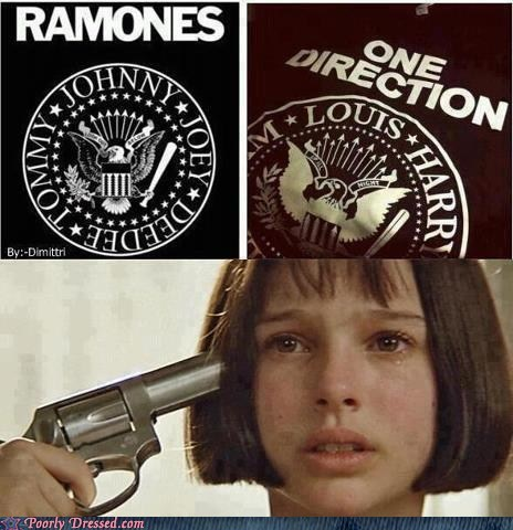 one direction,the ramones,suicide,t shirts