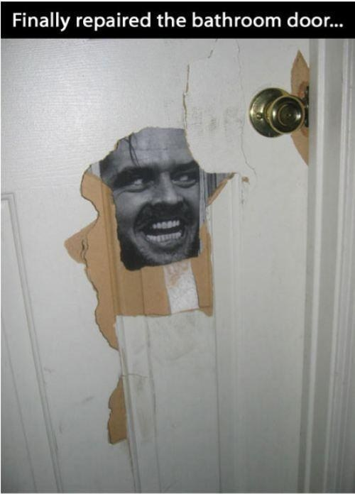 repair,heres-johnny,scared,bathroom,The Shinning