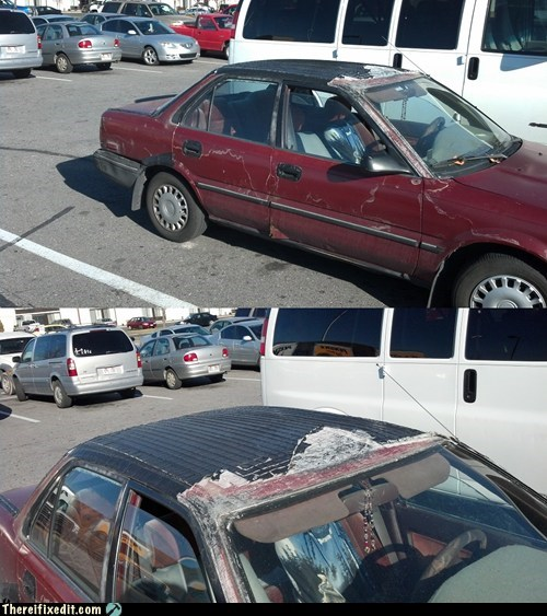 car fix car roof car fail - 6933047296