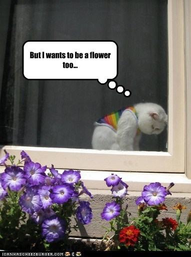 But I wants to be a flower too...