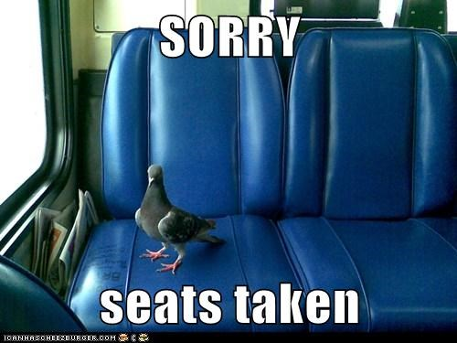 SORRY seats taken