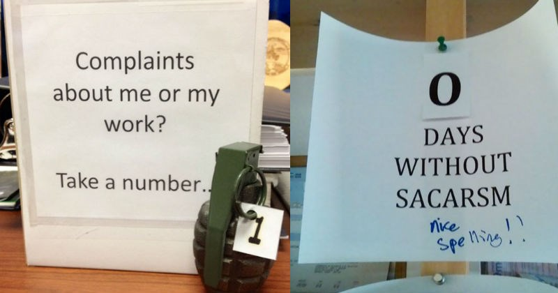angry notes from coworkers