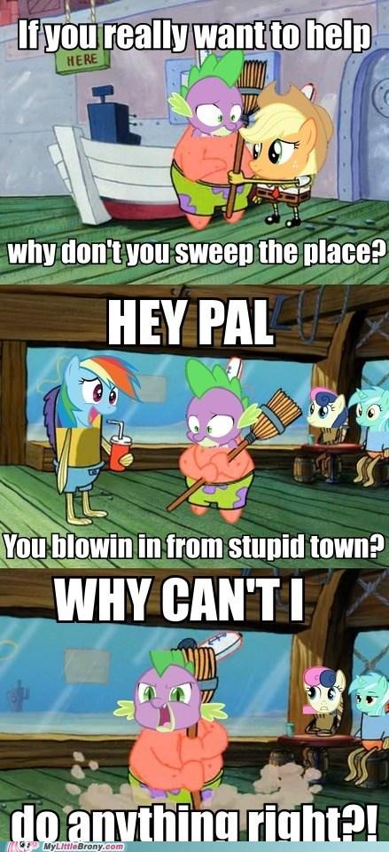 spike applejack sweeping SpongeBob SquarePants - 6933892352