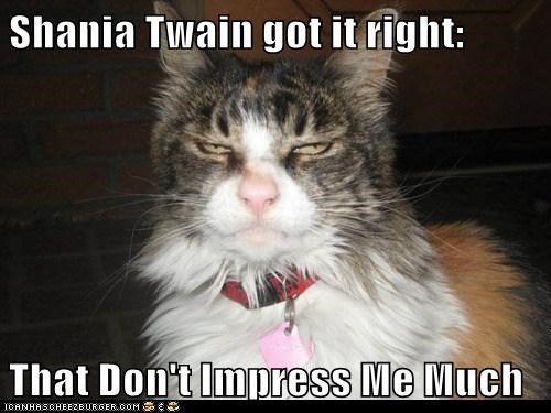 Shania Twain got it right: That Don't Impress Me Much