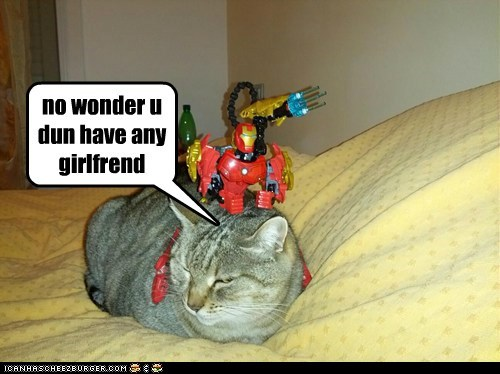 forever alone toy captions girlfriend Cats action figure
