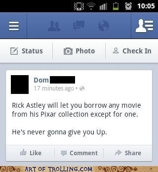 up,Movie,rick roll,facebook,rick astley