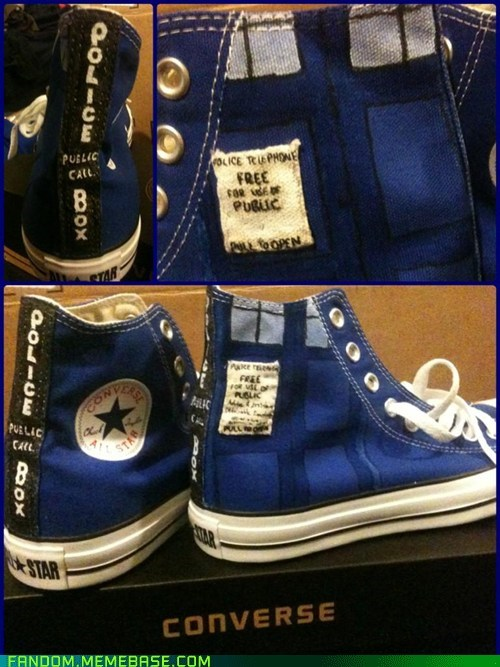 shoes accessories tardis doctor who DIY - 6935111168