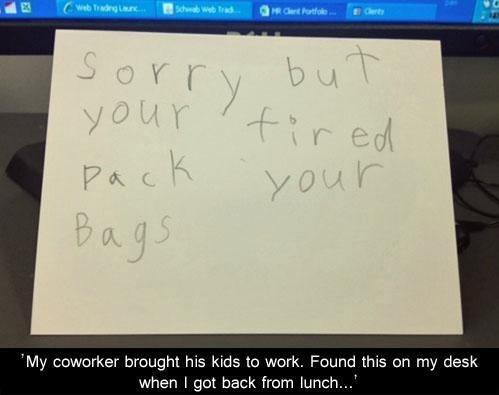 fired job kids work computer - 6935138816
