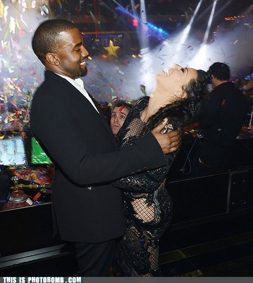 new years Kim Kardashain kanye west celeb