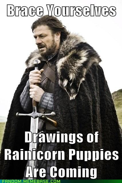 brace yourself,rainicorn,cartoons,adventure time