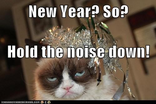 New Year? So? Hold the noise down!