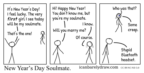 soulmate,new year,new-years-day,lucky